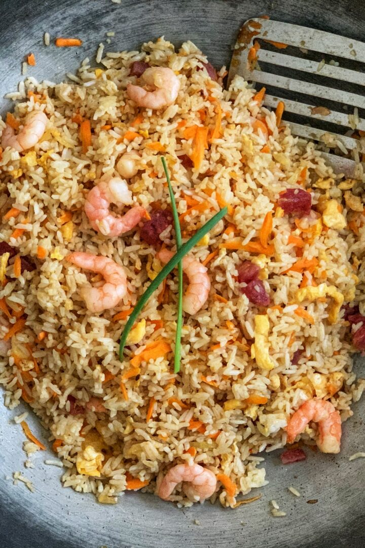Fried Rice with Prawns and Lap Cheong